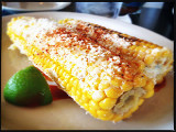 Elotes (corn on the cob)